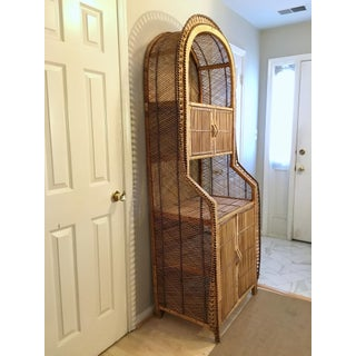 Vintage Bamboo Rattan Storage Cabinet Bookcase Preview