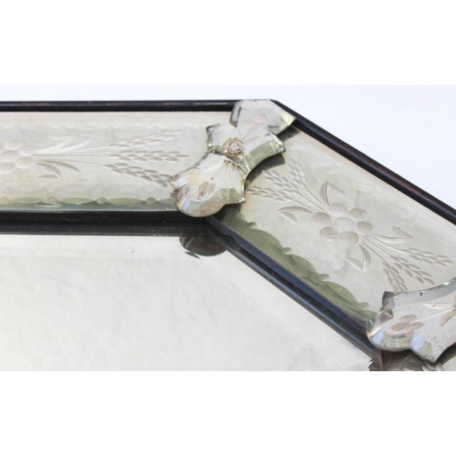 1950s Venetian Style Glass Mirror For Sale - Image 5 of 12