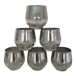 1970s Vintage Dorothy Thorpe Style Rocks Glasses - Set of 6 For Sale