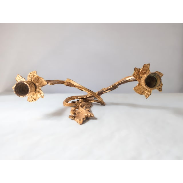 Antique French Gilt Candle Sconces Louis XV Gold Ormolu Rococo - A Pair For Sale In Houston - Image 6 of 8