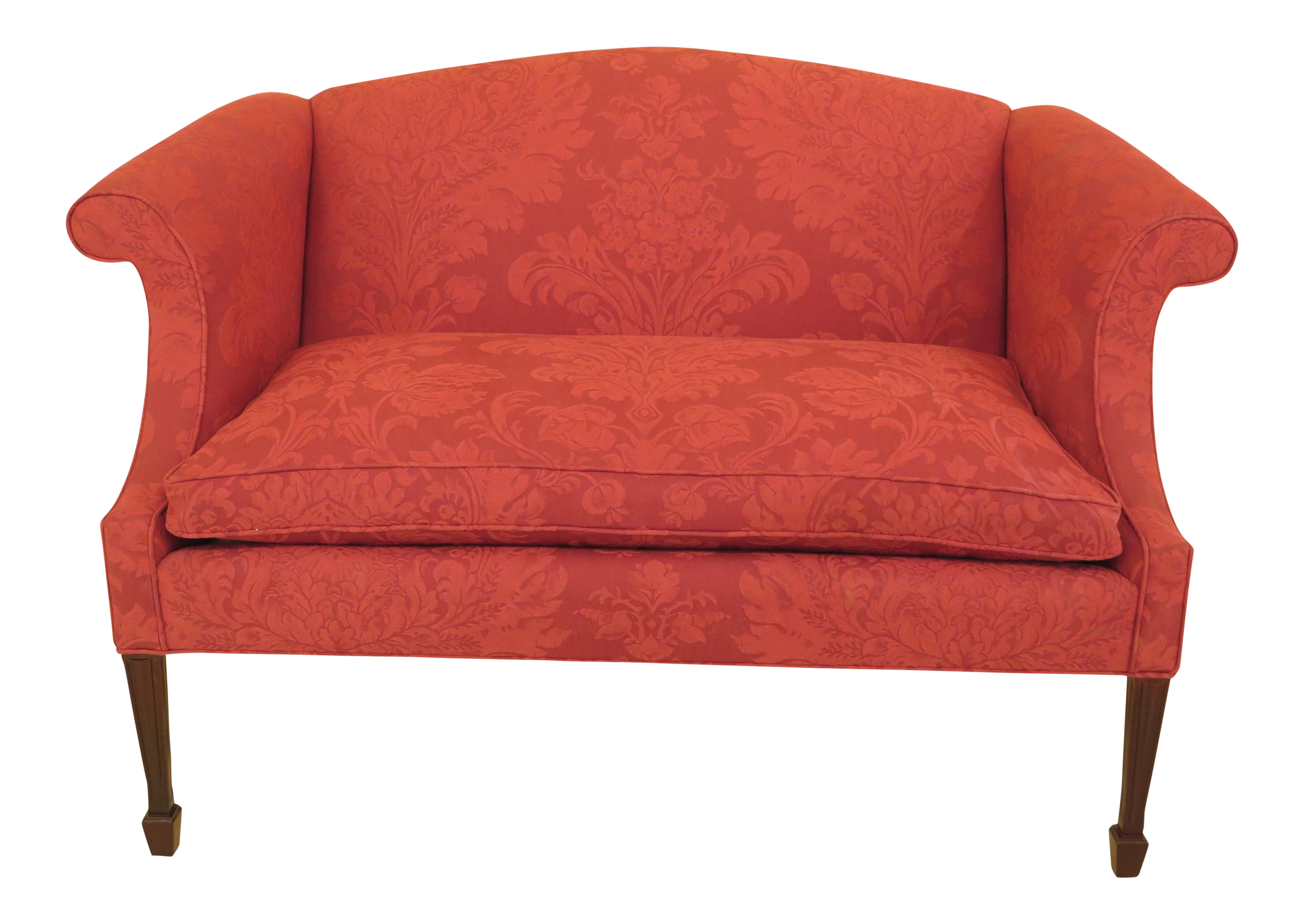 Hancock U0026 Moore Damask Upholstered Federal Loveseat