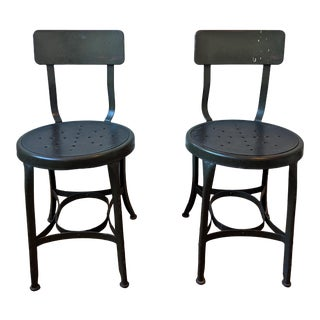 Uhl Steel Chairs by the Toledo Metal Furniture Co. - a Pair For Sale