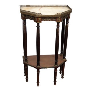 Regency Style Marble Top Hall Table For Sale