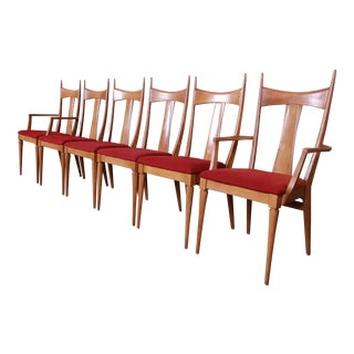 Paul McCobb Style Mid-Century Modern Dining Chairs by Heywood Wakefield - Set of 6 For Sale