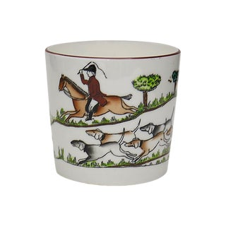 English Hunting Scene Jam Pot For Sale