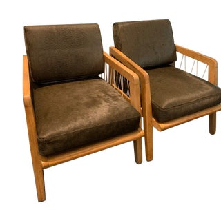 Mid Century Modern Edward Wormley Club Chairs- A Pair For Sale
