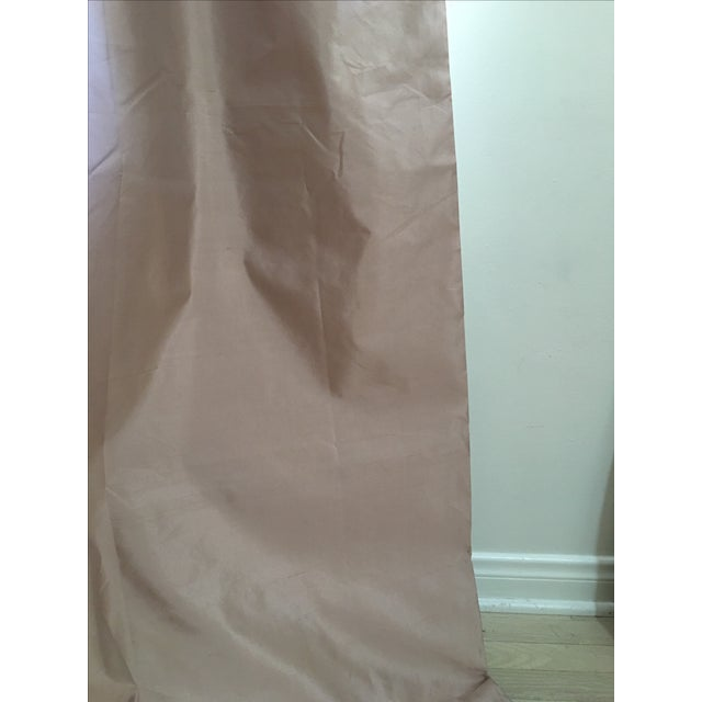 Serena & Lily Silk Shantung Blush Drapes - S/3 For Sale - Image 7 of 7