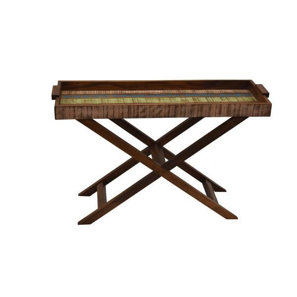 Country Reclaimed Wood Tray Table For Sale - Image 3 of 8