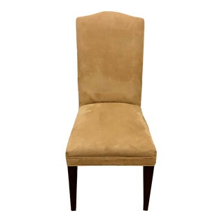 Mitchell Gold / Bob Williams Microsuede Parsons Dining Chair For Sale