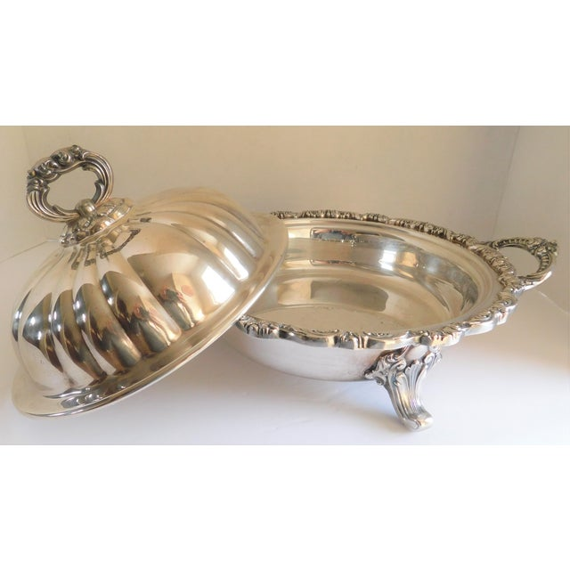 Mid 20th Century Poole Silver Co. Heavy Silverplate Casserole Dish For Sale - Image 5 of 12
