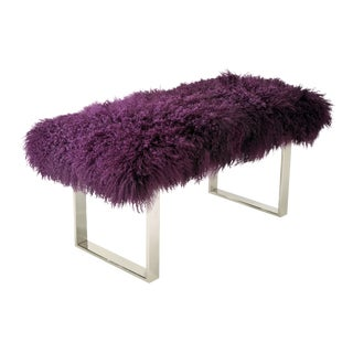 "Curly BeBe Purple 38"" Bench For Sale"