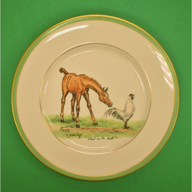 Abercrombie & Fitch 1950's Vintage Cyril Gorainoff Abercrombie & Fitch Plates - Set of 3 For Sale - Image 4 of 12