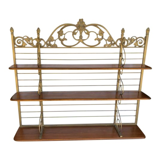 Iron & Wood Baker's Wall Rack/Shelf - Image 1 of 7
