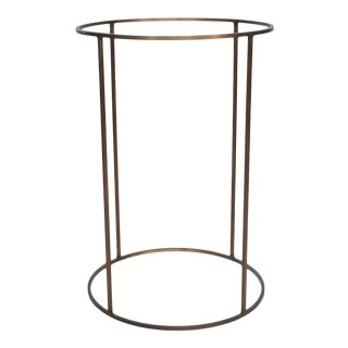 1960s Paul McCobb Brass Round Drum Base Side Table For Sale