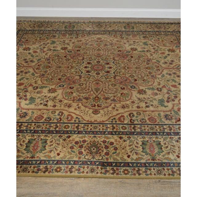 """Textile Karastan Samovar Tea Wash Tabriz Medallion 8' 8"""" x 10' Room Size Rug For Sale - Image 7 of 12"""