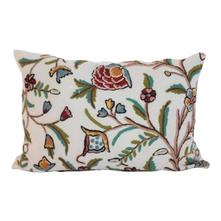 Crewel Work Bolster Pillow For Sale