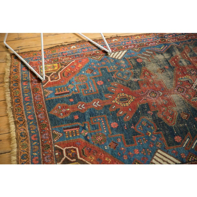 :: Unusually large Kurdish Hamadan carpet, possibly intended to be longer, based on asymmetric character of the oversized...