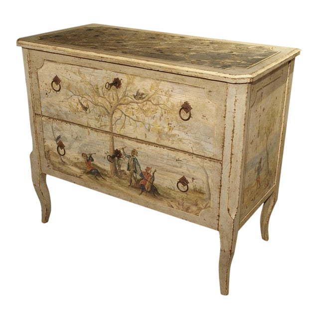 Antique Painted Commode From Italy, 19th Century For Sale