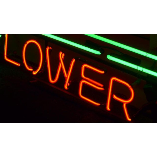 Neon Sign From Department Store, Men's Shoes, Lower Level, Circa 1930s. For Sale - Image 9 of 13