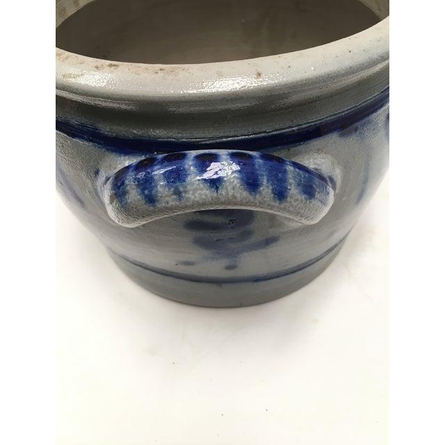 Blue Vintage German Blue Salt Glazed Crock For Sale - Image 8 of 9