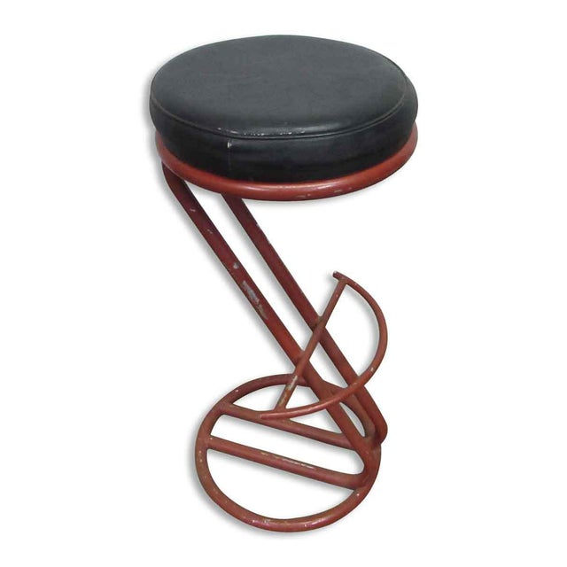 Red Metal Base Stool - Image 4 of 7