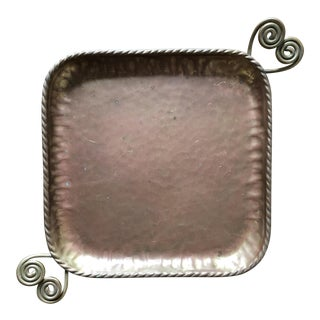 Mid Century Swedish Brass Copper Tray