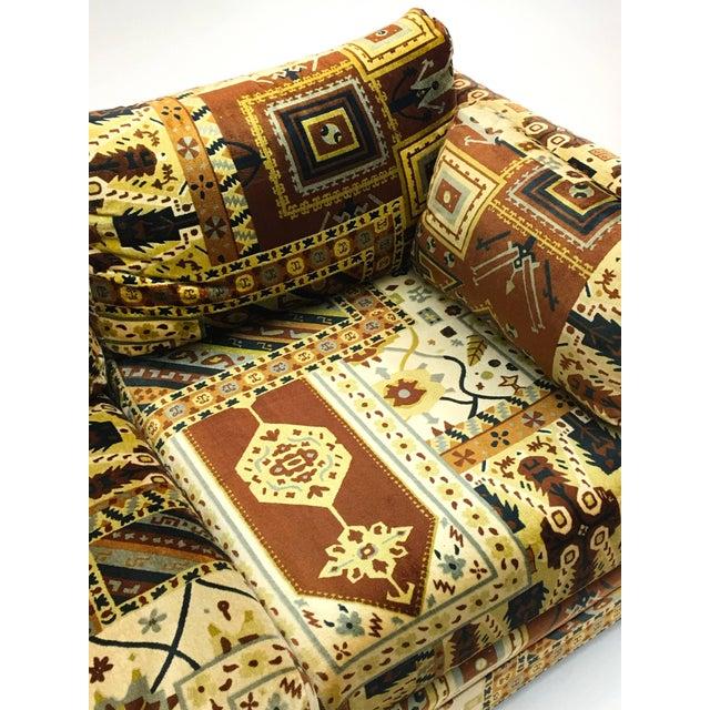 Brown Midcentury Loveseat in Jack Larsen Style Cotton Felt For Sale - Image 8 of 10