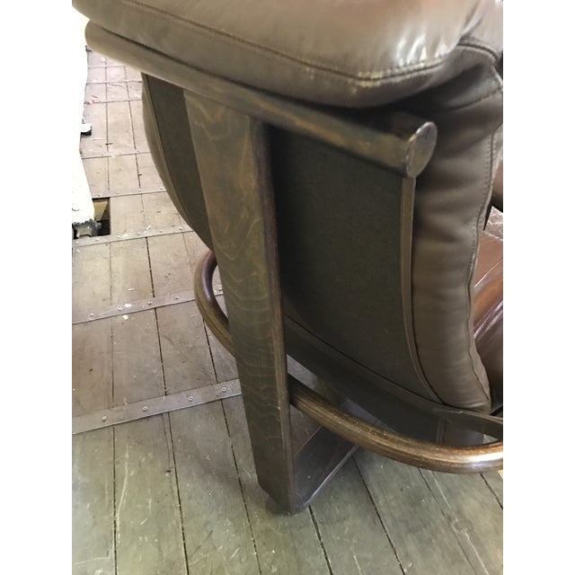 """Westnofa """"Manta"""" Chair with Ottoman For Sale - Image 5 of 8"""