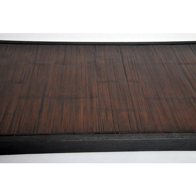 2010s Custom Bamboo Top Coffee Table For Sale - Image 5 of 13