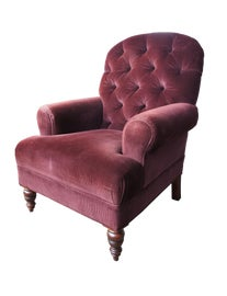 Image of Burgundy Club Chairs