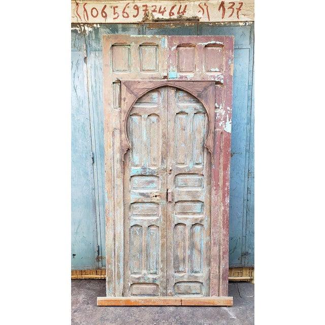 Wood 1940s Vintage Old Mok Moroccan Door For Sale - Image 7 of 8