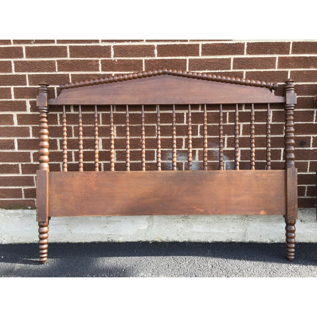 Jenny Lind Full Size Spindle Headboard Footboard & Side Rails For Sale - Image 9 of 9