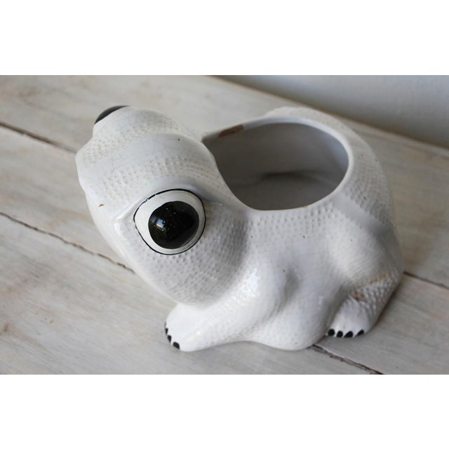 1970s Hobnail Frog Planter in the Style of Jean Roger For Sale - Image 11 of 13