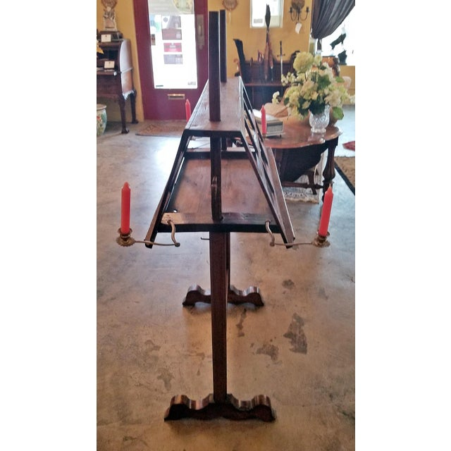 18c French Extra Large Walnut Duet Stand For Sale - Image 11 of 13