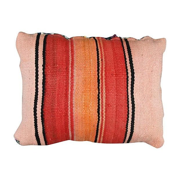 Abstract Expressionism Moroccan Boucherouite Striped Sham For Sale - Image 3 of 3
