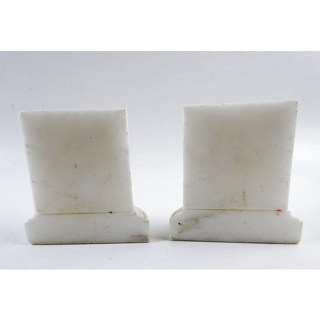 French Vintage Italian Marble Column Bookends - a Pair For Sale - Image 3 of 6