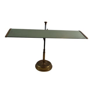 Antique Industrial Mechanical Brass and Aluminum Drafting Desk Lamp For Sale