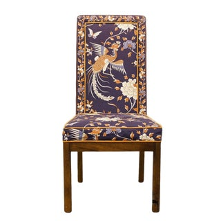 Late 20th Century Vintage Tai Ming Collection Heritage Asian Dining Chair For Sale