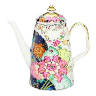 Porcelian Chinese Import Tobacco Leaf Coffee Pot For Sale