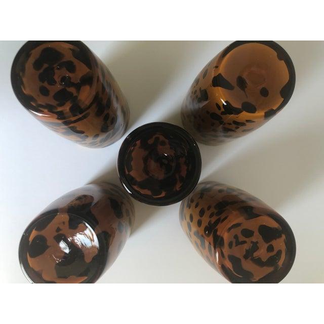 Vintage Tortoiseshell Highball Glasses - Set of 5 For Sale - Image 4 of 9