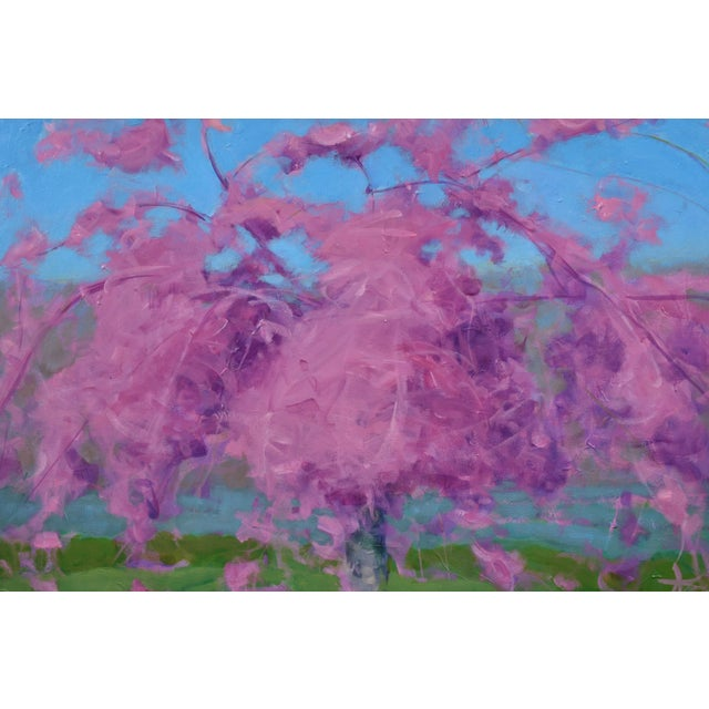 Stephen Remick Weeping Cherry Tree Painting by Stephen Remick For Sale - Image 4 of 11