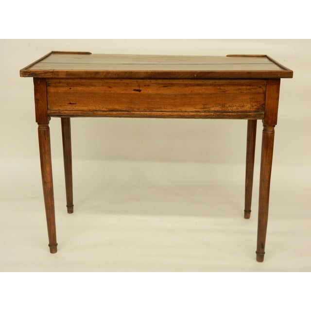 Rustic 18th C. French Provincial Walnut Side Table For Sale - Image 3 of 9