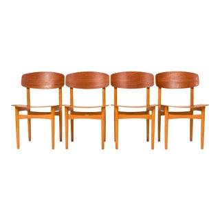 Børge Mogensen Model 122 Dining Chairs for Søborg - Set of 4 For Sale