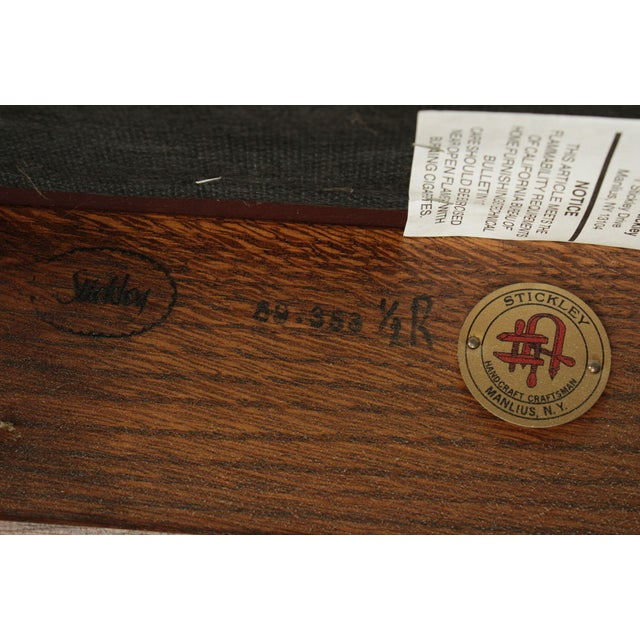 Stickley Mission Collection Harvey Ellis Rocker with Inlay For Sale - Image 12 of 13