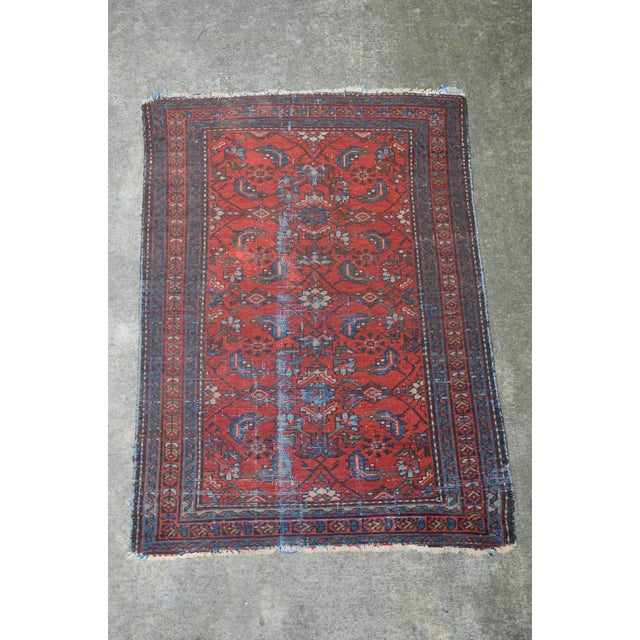 """Antique Hand Knotted Persian Floral Design Rug - 3'6"""" X 4'8"""" For Sale - Image 11 of 11"""