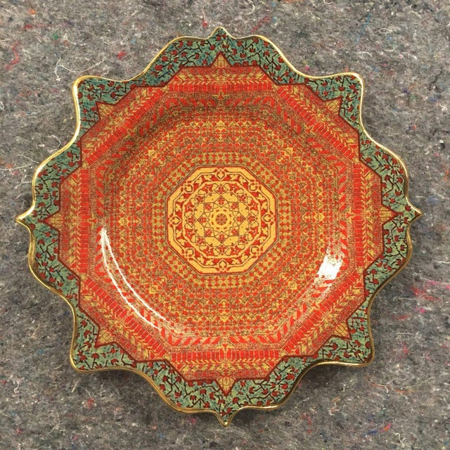 "l'Objet ""Tabriz"" Collection Porcelain Decalcomanie Dessert Plate For Sale - Image 4 of 4"