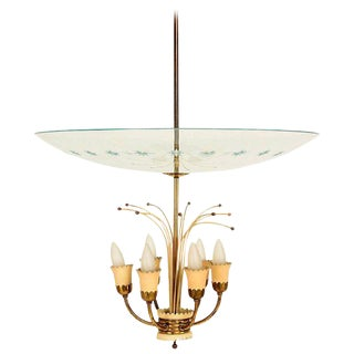 Italian Chandelier After Fontana Arte For Sale