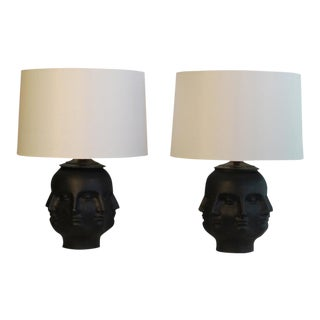 A Pair Of Piero Fornasetti Style Lamps For Sale