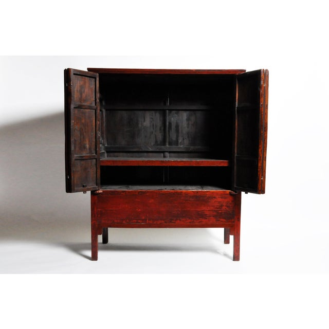 Chinese Wedding Cabinet With Square Lockplate For Sale - Image 9 of 13