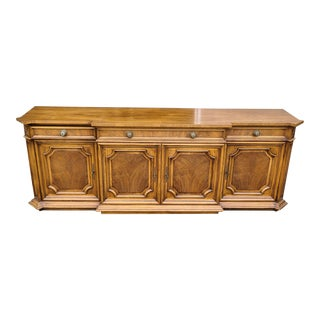 1980s Vintage Karges Fruitwood Provincial Style Dining Room Sideboard For Sale